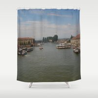 italy Shower Curtains featuring Italy  by M.S. Art