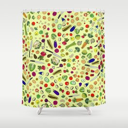 Vegetable Soup Recipe Shower Curtain