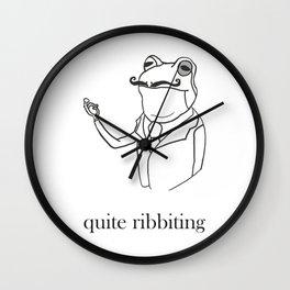 Quite Ribbiting Wall Clock