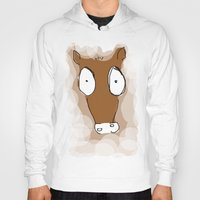 donkey Hoodies featuring Donkey by Frances Roughton