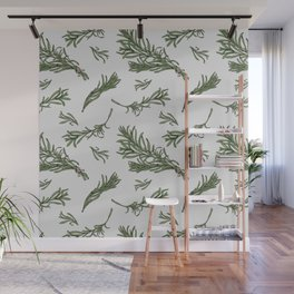 Rosemary rustic pattern Wall Mural