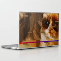 hemingway Laptop & iPad Skins featuring Been There Done That < The NO Series (Brown) by Wayne Edson Bryan