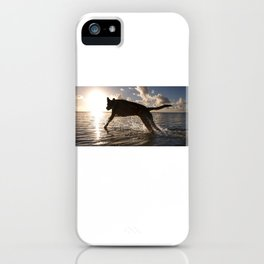 Jumping with joy. iPhone Case