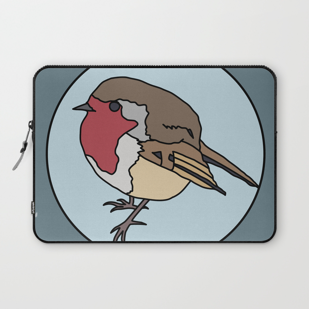 Robin - Robin Redbreast (blue) Laptop Sleeve (LSV8922183) photo