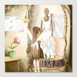 Designing the Wedding Dress Canvas Print