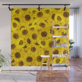 Lots of sunflowers Wall Mural