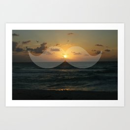 Must-dash into the sunset Art Print