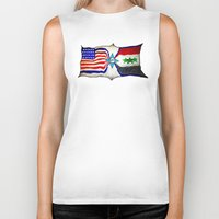 flag Biker Tanks featuring Flag by ℳajd