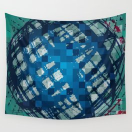 Floating Blue Sphere or Ovoid? Wall Tapestry