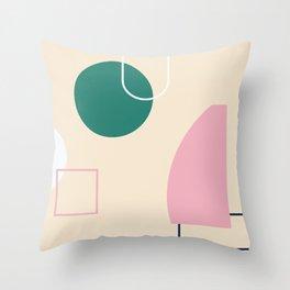 Strange feeling - on champagne background Throw Pillow