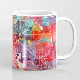 Springfield map Illinois painting 2 Coffee Mug