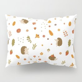children hedgehog pattern, forest design Pillow Sham