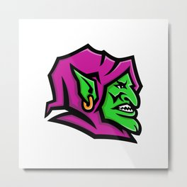 Goblin Head Mascot Metal Print
