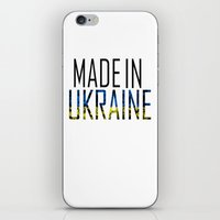 ukraine iPhone & iPod Skins featuring Made In Ukraine by VirgoSpice