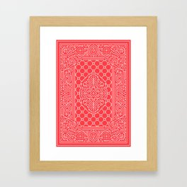 Playing Card Back - Red Framed Art Print