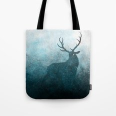 Space Stag Silhouette Tote Bag