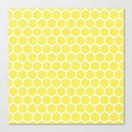 Summery Happy Yellow Honeycomb Pattern - MIX & MATCH Canvas Print