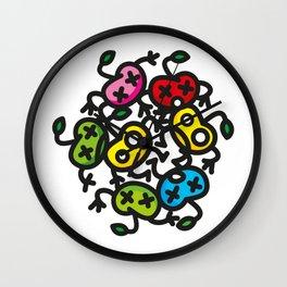 apple color crazy Wall Clock
