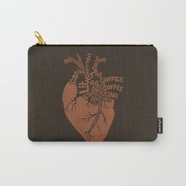 Coffee Lover Heart Carry-All Pouch