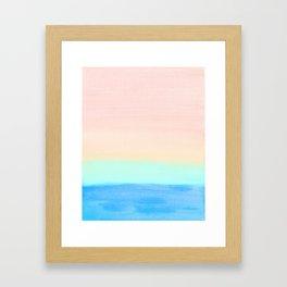Retro Rainbow Painting Framed Art Print