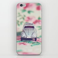 volkswagon iPhone & iPod Skins featuring VDub Beetle by Anna Dykema Photography