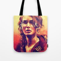hiccup Tote Bags featuring Abraham's Daughter by Alice X. Zhang