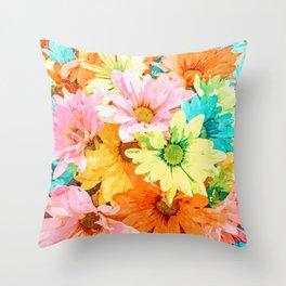 Simone #painting #floral Throw Pillow