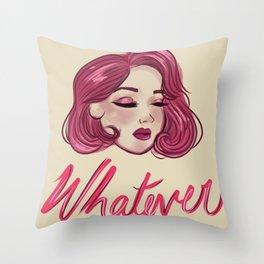 Whatever Girl Throw Pillow