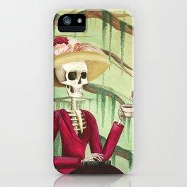 Jane Austen La Catrina iPhone Case