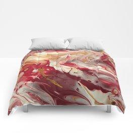 Garnet & Gold Pour Comforters