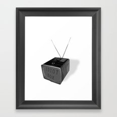 Idiot box Framed Art Print