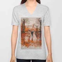 An Autumn full of Magic Unisex V-Neck