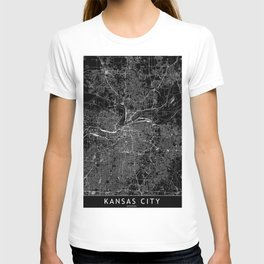 Kansas City Black Map T-shirt