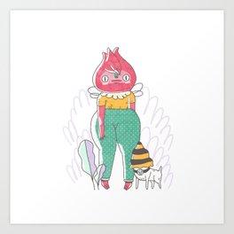 Red Rosa Art Print
