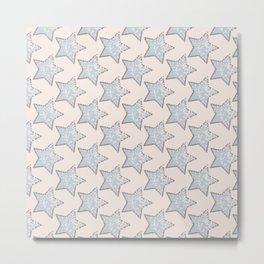 pastel star pattern Metal Print