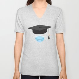 Class of 2020 Graduation - Graduation cap and Face Mask Unisex V-Neck