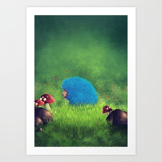 Blue Pet! Art Print