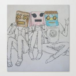 Let's Pretend to Be Robots Canvas Print