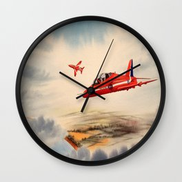 BAe Hawk Aircraft The Red Arrows Wall Clock