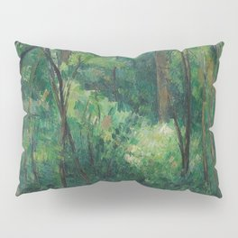 1880 - Paul Cezanne - Interior of a forest Pillow Sham