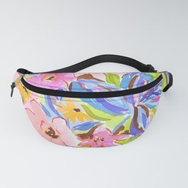 Flaunting Floral Periwinkle Fanny Pack