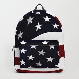 American Flag Waving Backpack