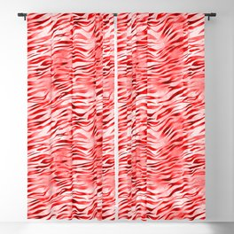 Red Tiger Print Blackout Curtain