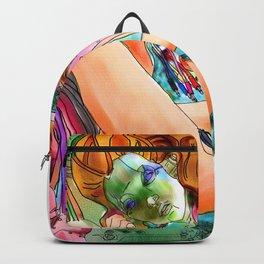 "Robot Painting: ""Singularity Danae"" Backpack"