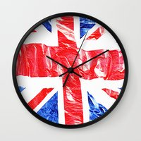uk Wall Clocks featuring UK by arnedayan