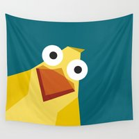 duck Wall Tapestries featuring Duck by Fairytale ink