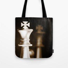 Chess-Sliver King Tote Bag