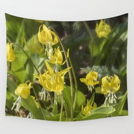Glacier Lily Painterly Wall Tapestry