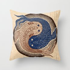 shuiwudáo yin yang mandala Throw Pillow