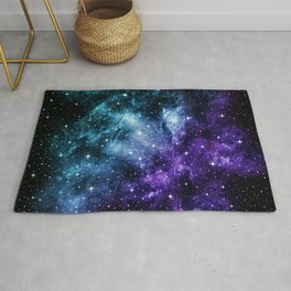Purple Teal Galaxy Nebula Dream #1 #decor #art #society6 Rug